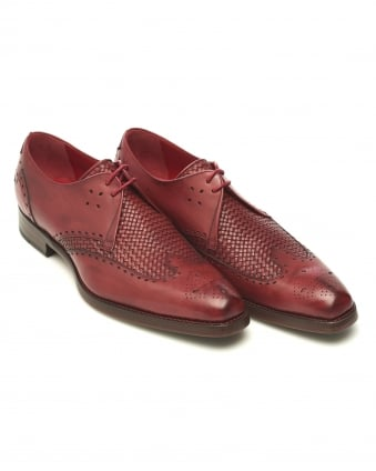 Mens Passenger Dexter Weave Leather Roja Shoe
