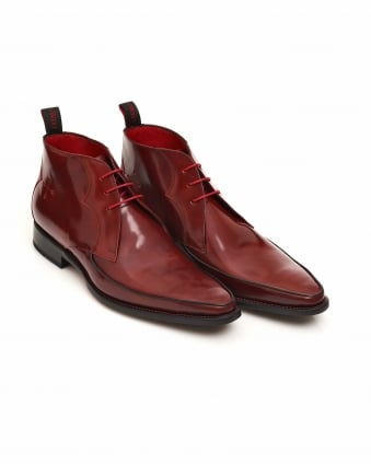 Mens Sun Apron Antique Red Derby Boots