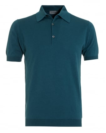 Mens Adrian Brunswick Green Sea Island Cotton Polo Shirt