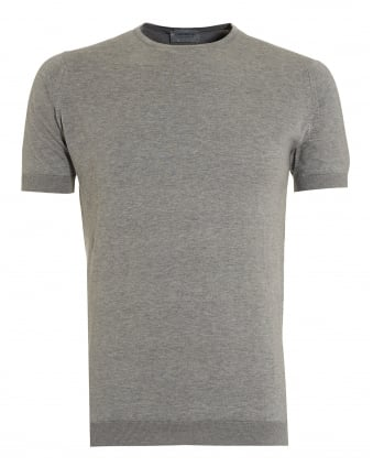 Mens Beldon T-Shirt, Silver Grey Regular Fit Tee