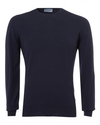 Mens Farhill Jumper, 24 Gauge Weight Midnight Navy Sweater