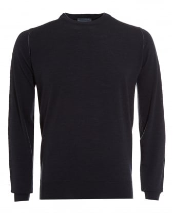 Mens Jumper, Failand Double Layered Neck Charcoal Sweater