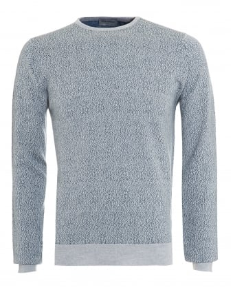 Mens Jumper, Organic Fleck Bardot Grey Knit
