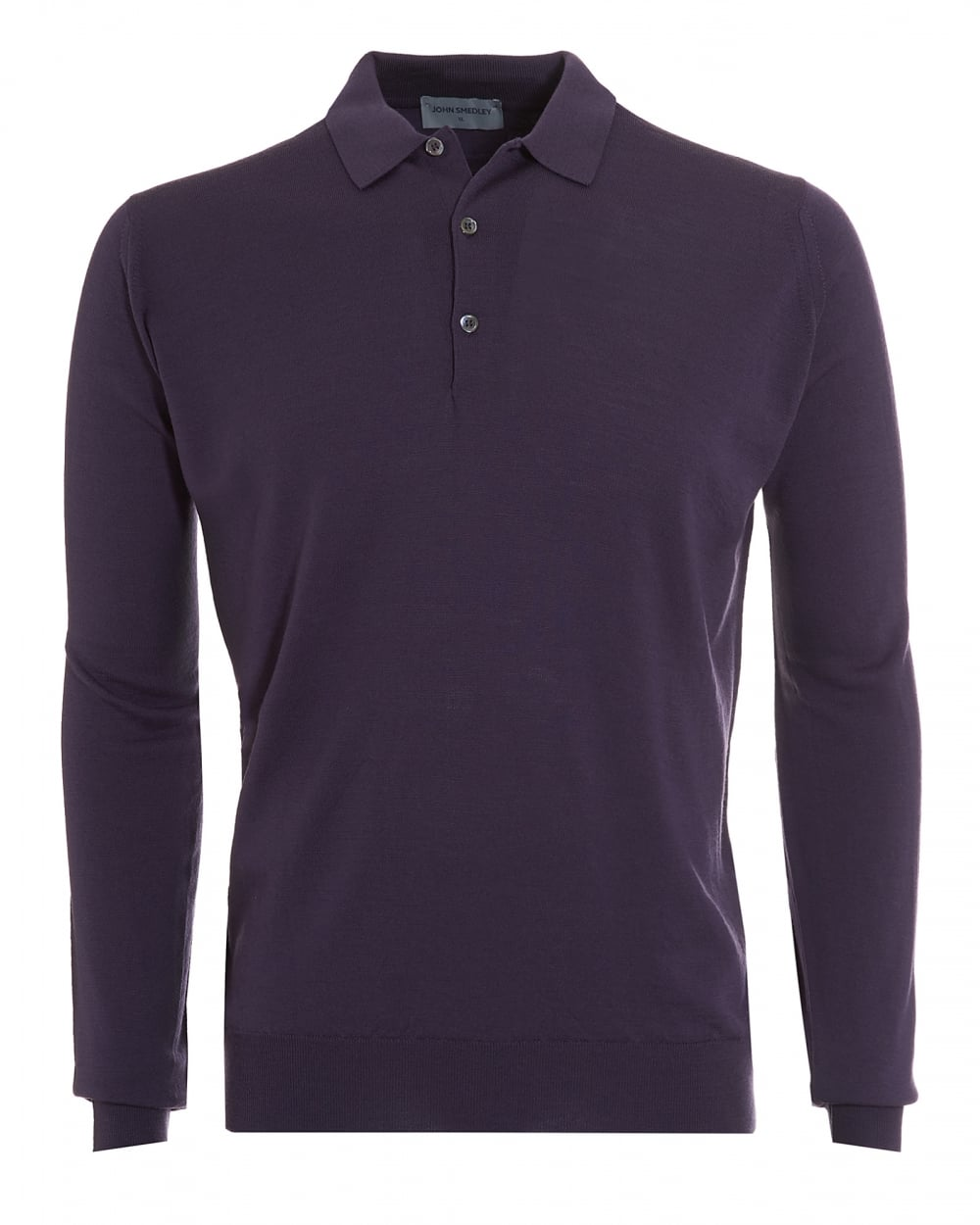 John smedley mens polo tyburn long sleeved purple polo shirt for Long sleeve purple polo shirt