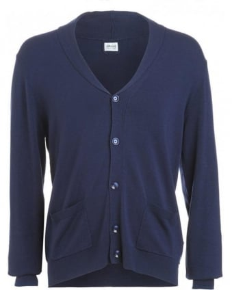 Jumper, Blue Lightweight Button Up Cardigan