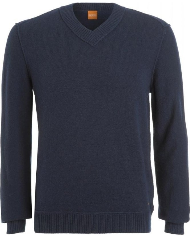 Hugo Boss Orange Jumper, 'Kaamillo' Lambswool V-Neck Knit