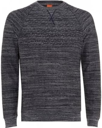 Jumper, 'Kordo' Navy Blue Marl Grey Sweater
