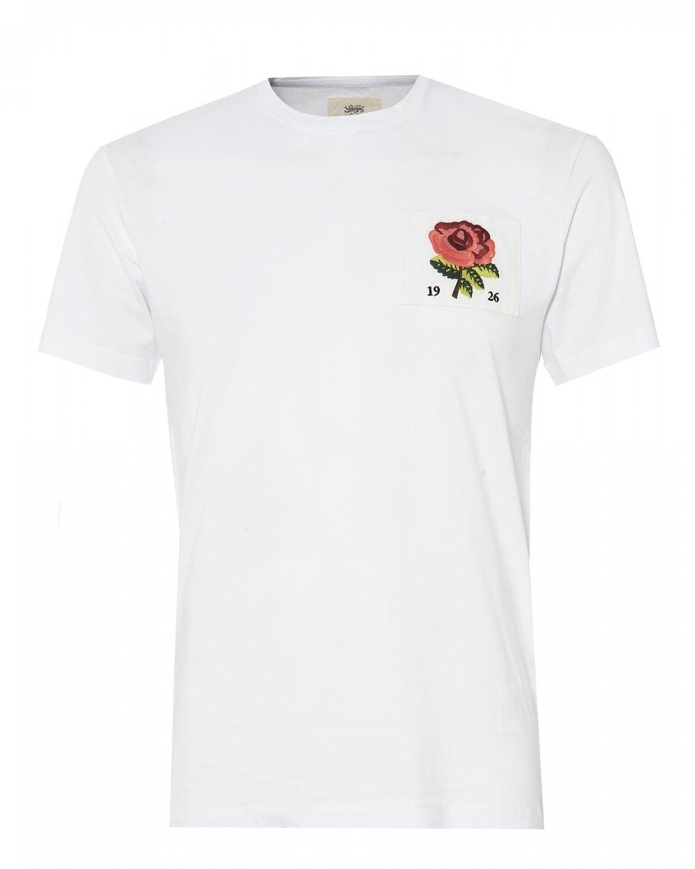 Kent   Curwen Mens Rose Appliqued T-Shirt 7bc33945a20