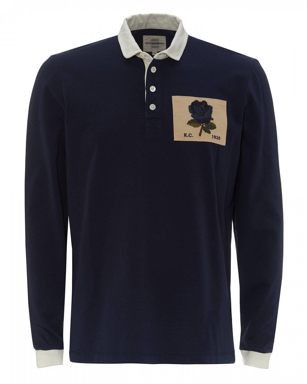 0780b7b4d30 Kent & Curwen Mens Rugby Rose Patch Polo Shirt