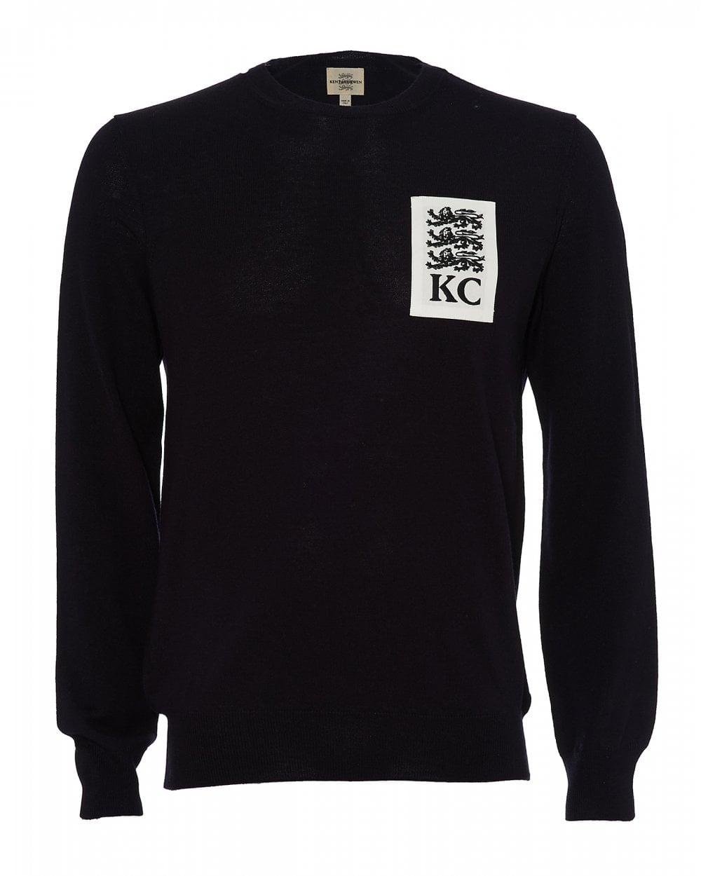 Deep Kent Blue Sweater amp; Jumper Curwen Lions Three Mens 4TYrTqPw