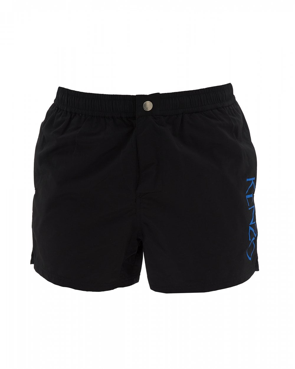 2a160e9a00 Kenzo Mens Black Swim Shorts, Printed Logo Swimming Trunks