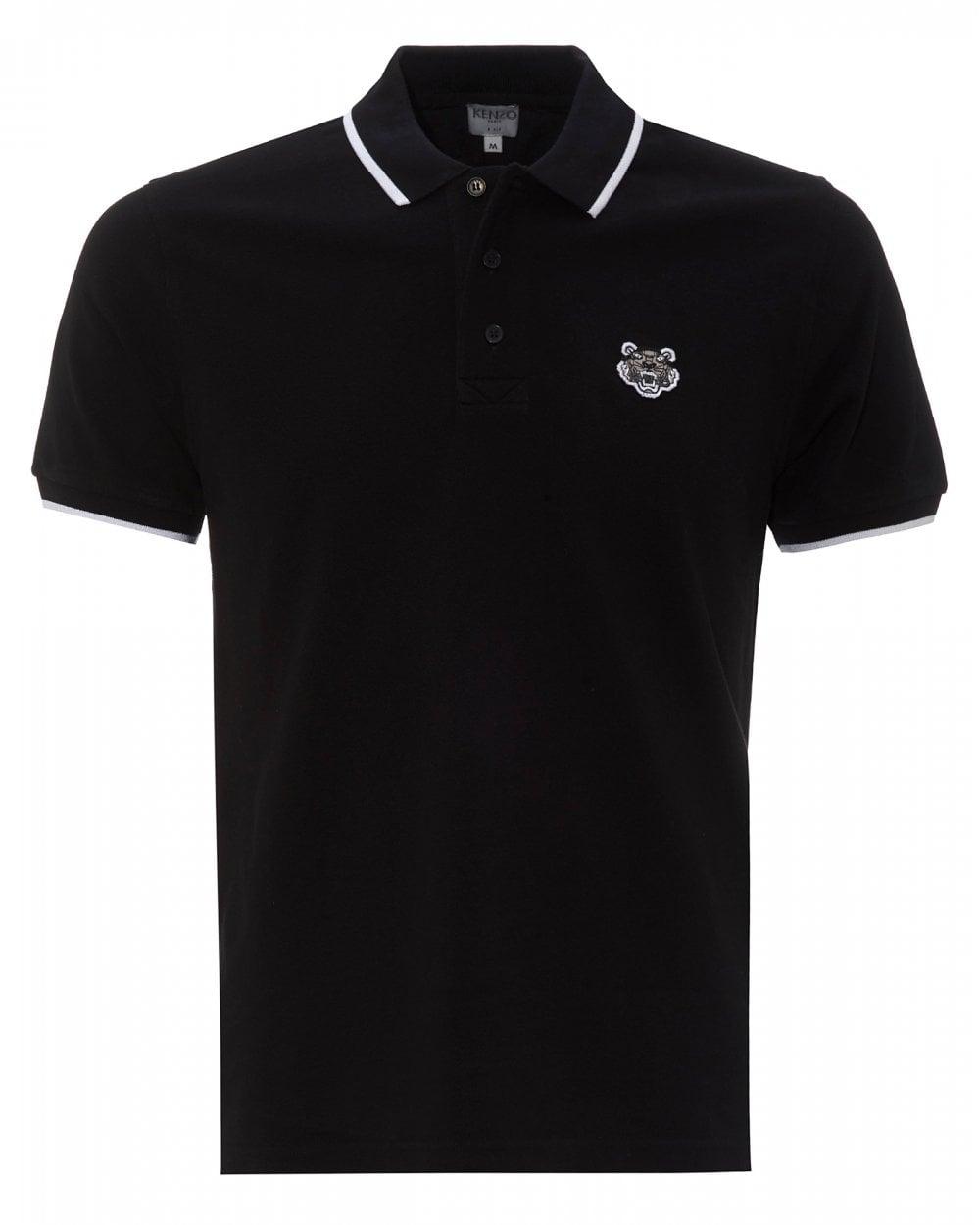 88ebfe42cf Mens Kenzo Black Tiger Crest Polo Shirt