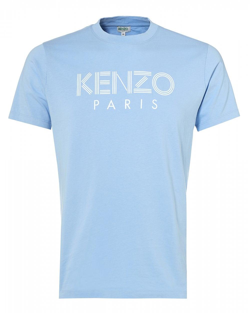 3cce92c1 Kenzo Mens Classic Logo T-Shirt, Sky Blue Tee