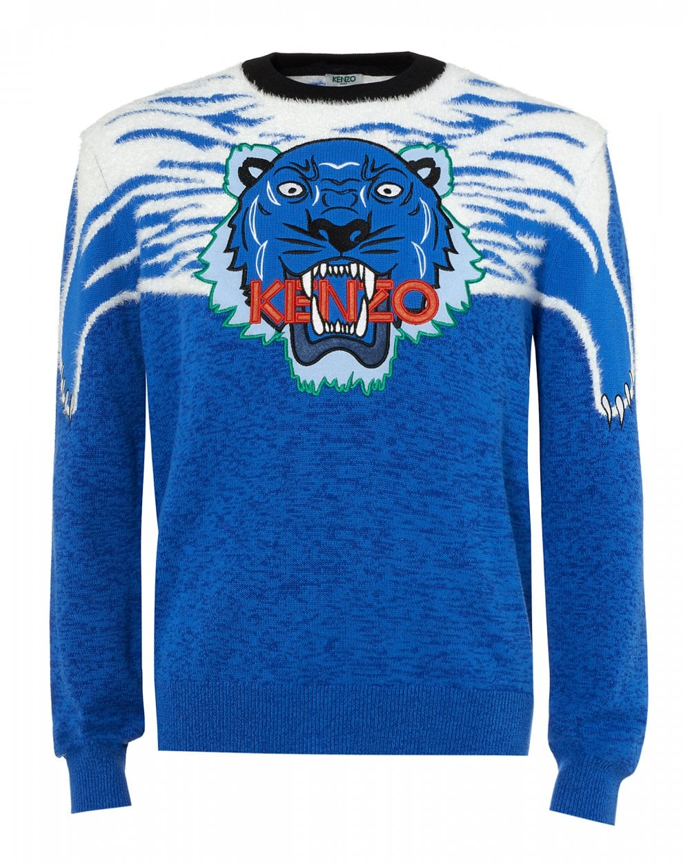 70f683d1a4 Kenzo Mens Claw Tiger Jumper, French Blue Sweater