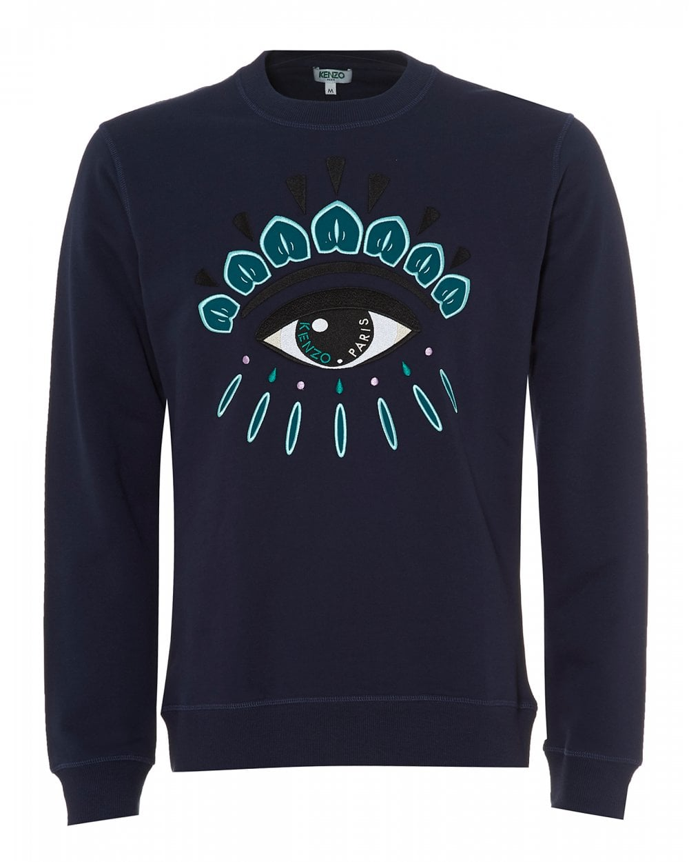 Kenzo Mens Eye Logo Sweatshirt, Regular Fit Ink Blue Sweat 5343810e712