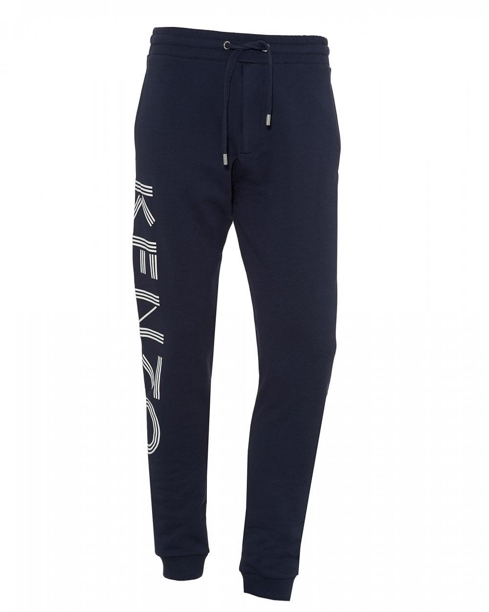 d5bd2fc2 Kenzo Mens Leg Logo Joggers, Ink Blue Sweatpants