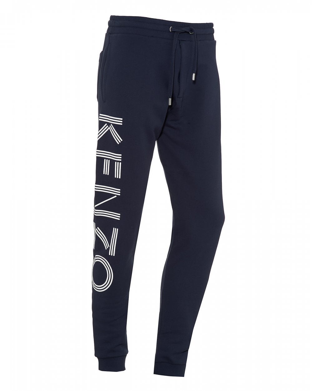b23093c7 Kenzo Mens Leg Logo Joggers, Ink Blue Sweatpants