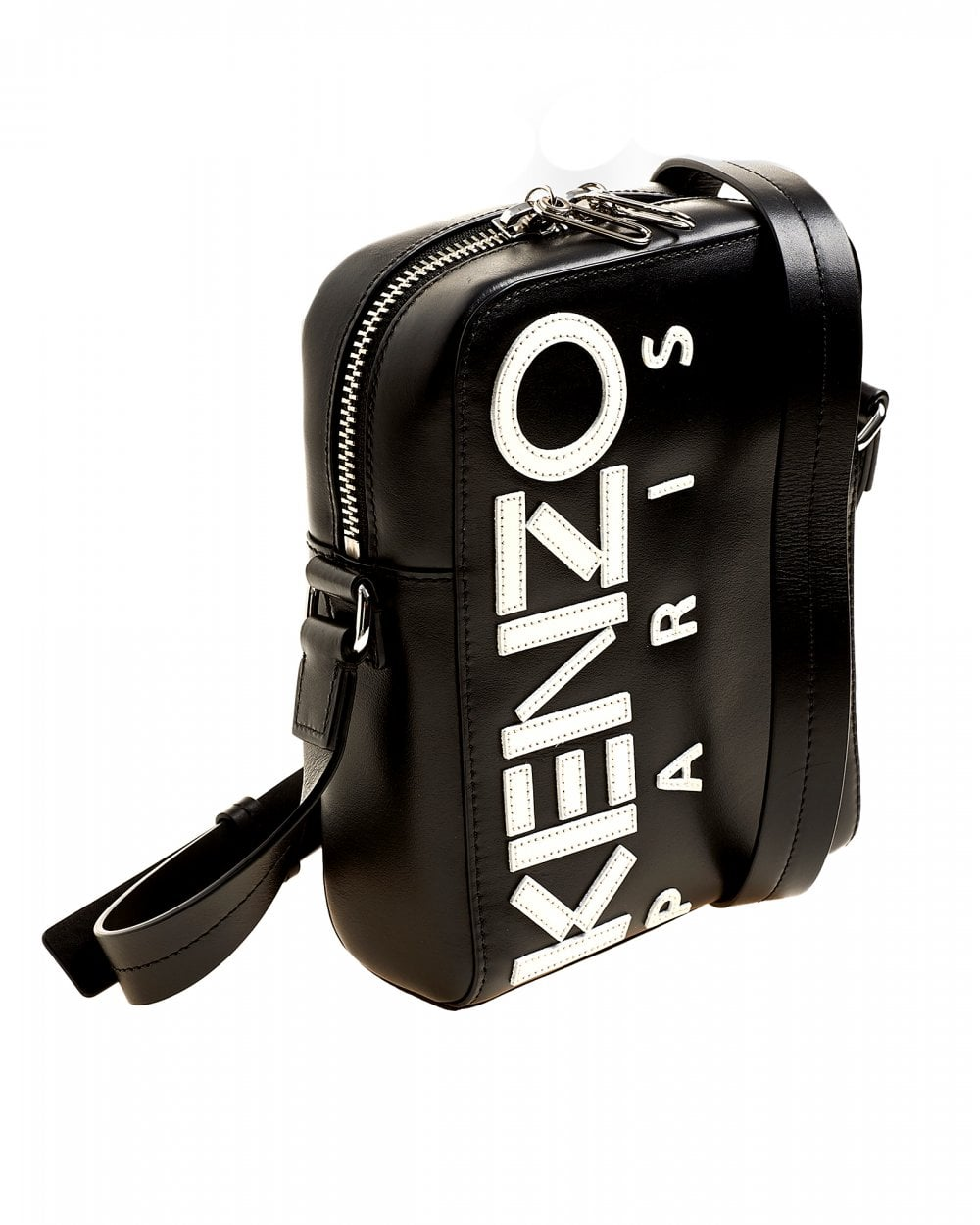 216c8ed3bf Kenzo Mens Logo Paris Black Shoulder Bag