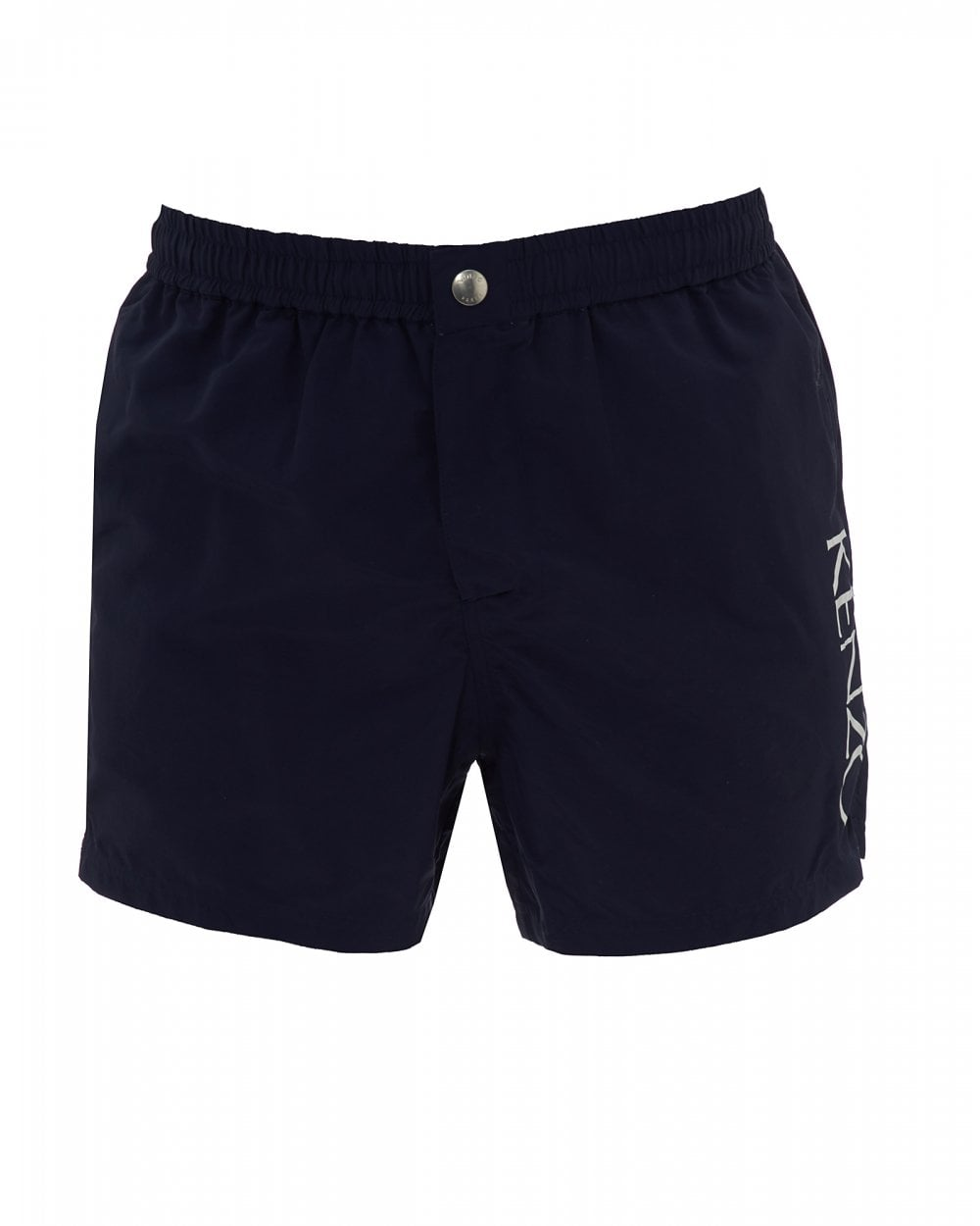 0d26acbbe7805 Kenzo Mens Midnight Blue Swim Shorts, Printed Logo Swimming Trunks