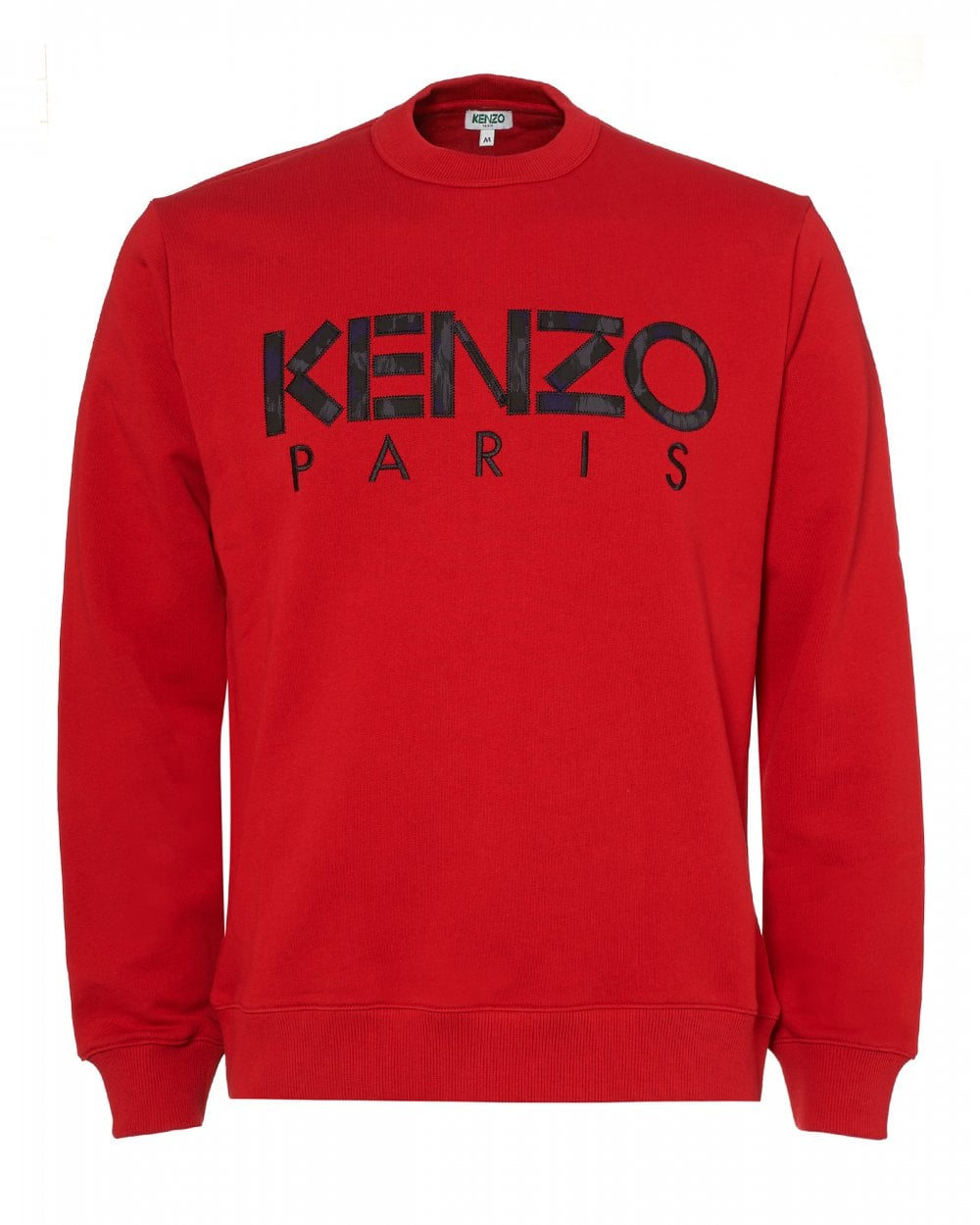 ad96be3354de Kenzo Mens Paris Logo Sweatshirt, Red Regular Fit Sweat