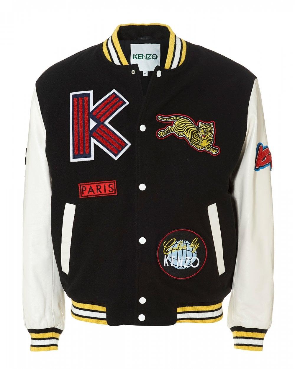 0bf39dea800 Kenzo Mens Patchwork Varsity Jacket