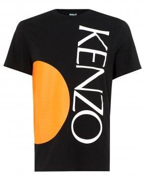a1440665e Mens Square Logo T-Shirt, Orange Circle Black Tee New In · Kenzo ...