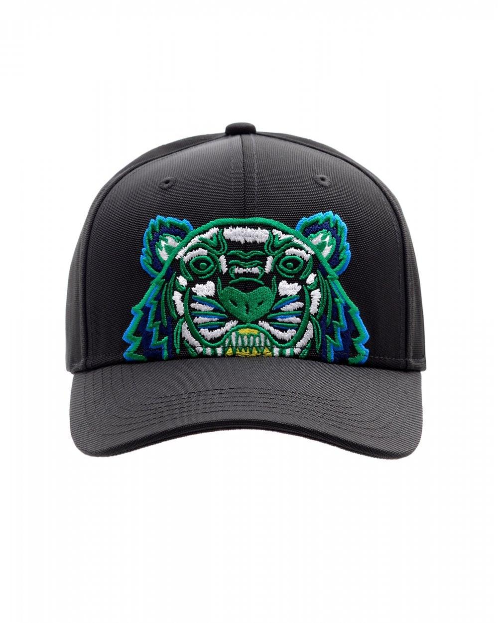 c25919268 Mens Tiger Canvas Baseball Cap, Black Hat