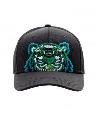 88b112e3 Mens Tiger Canvas Baseball Cap, Black Hat New In. Kenzo ...