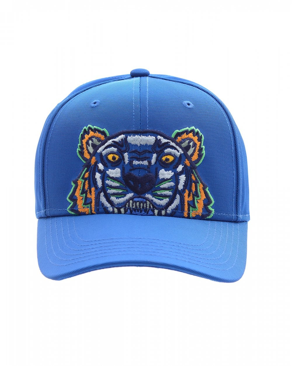 4711068ed Mens Tiger Canvas Baseball Cap, Cobalt Blue Hat