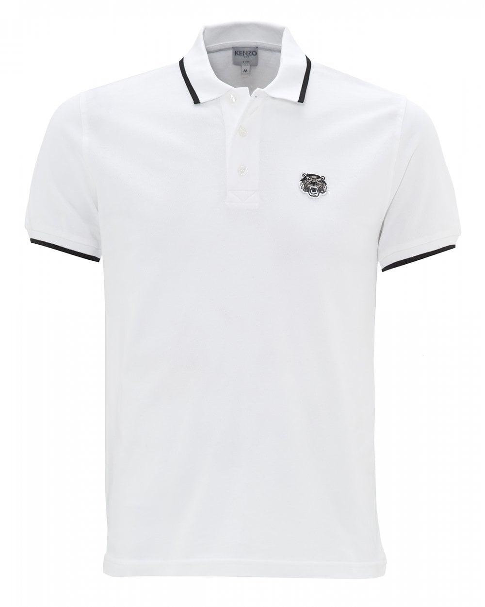b0fa94455b Kenzo Mens Tiger Crest White Polo Shirt