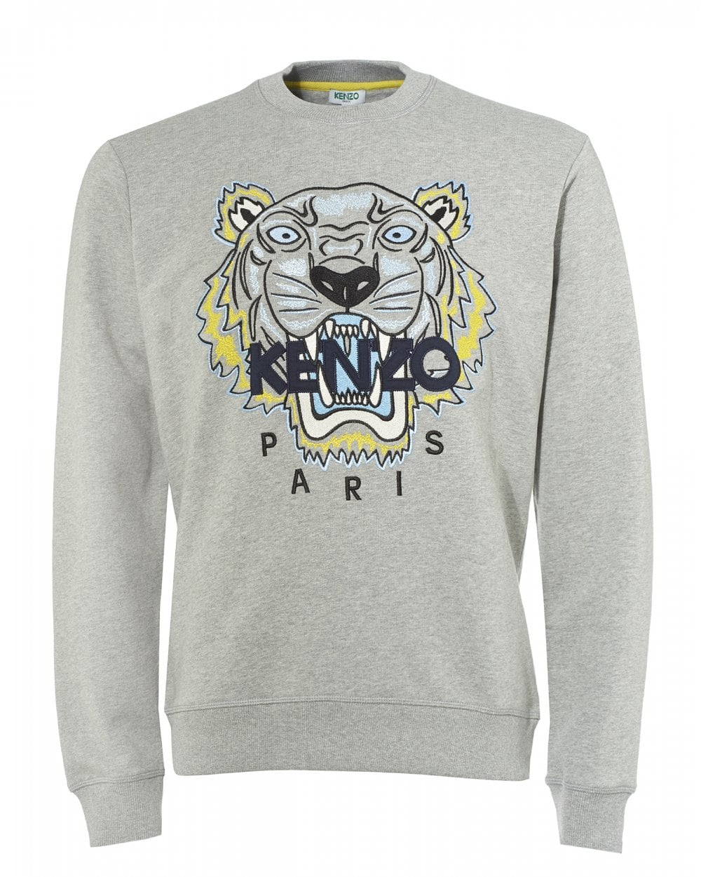 f6669496 Kenzo Mens Tiger Head Sweatshirt, Pearl Grey Icon Sweat