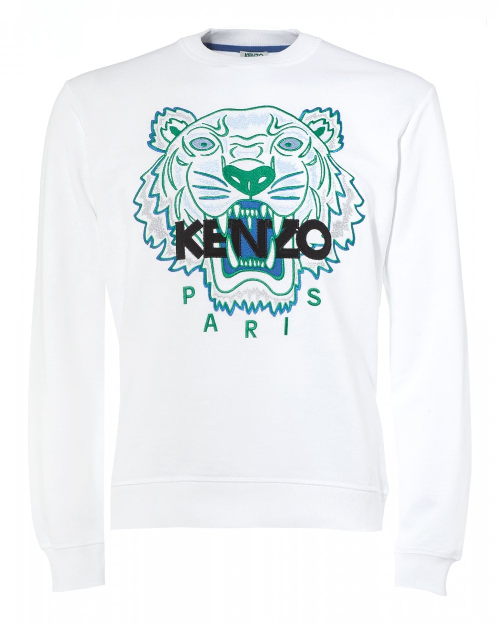 adddf42a58e Kenzo Mens Tiger Head Sweatshirt, White Icon Sweat