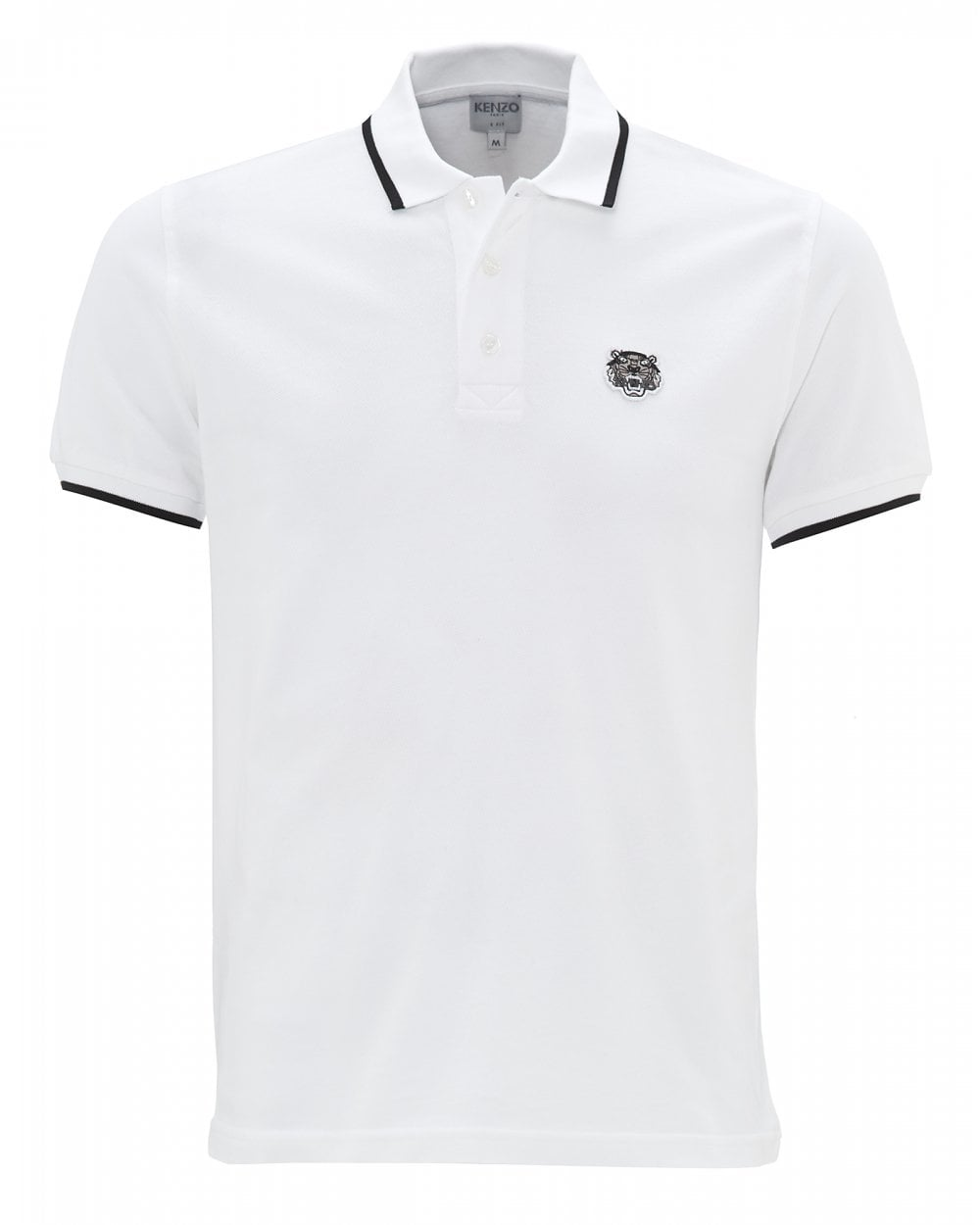 f6619223b6 Mens Tiger Logo White Polo Shirt