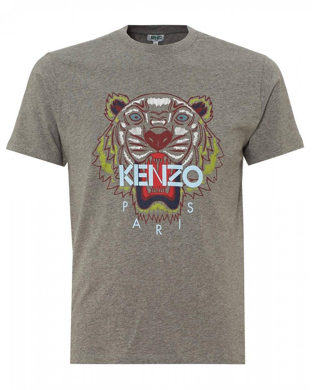 Tee Mens Grey Dove Kenzo Tiger Neck T ShirtCrew xCshdtQr