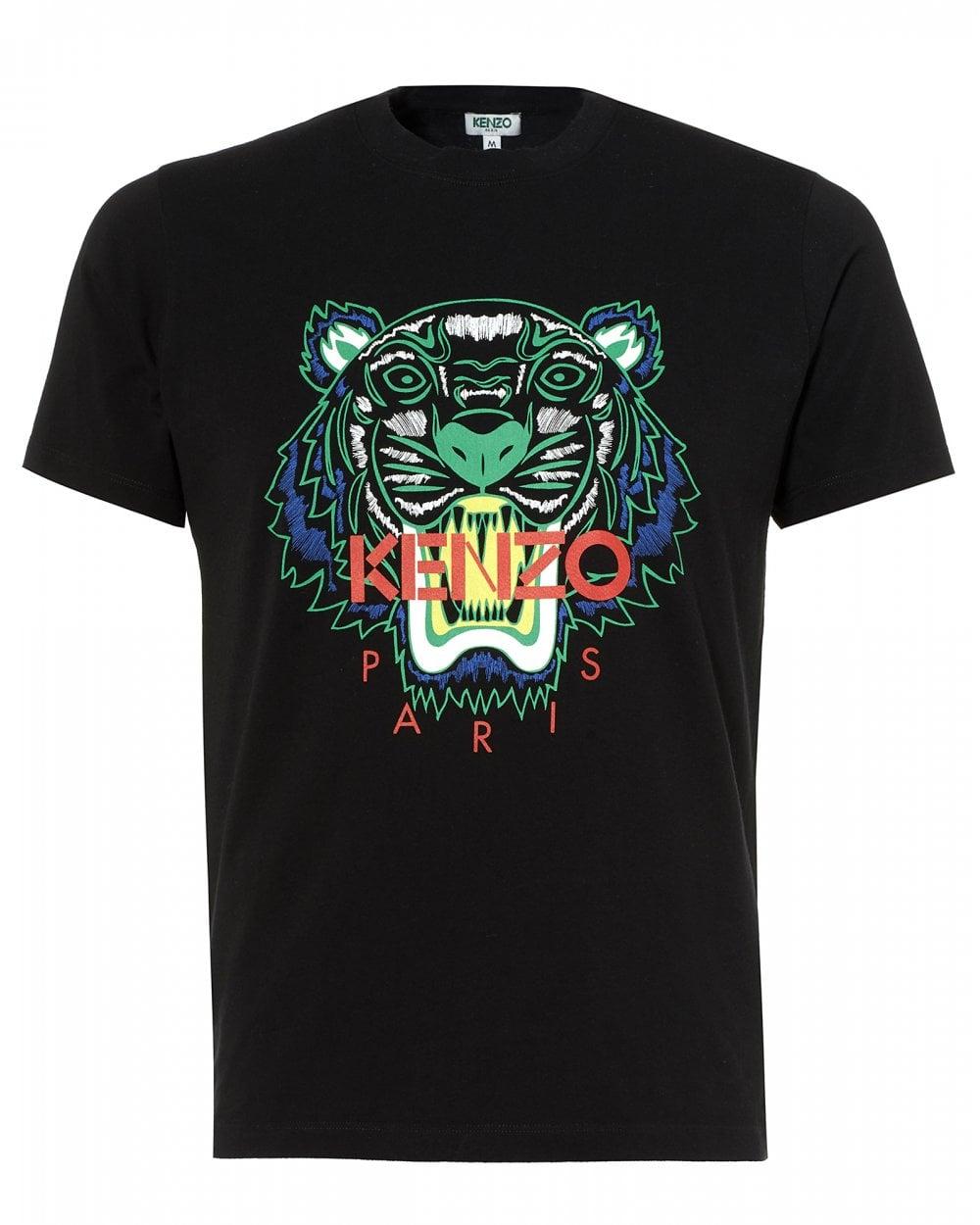 7bd1679f Kenzo Mens Tiger T-Shirt, Icon Black Tee