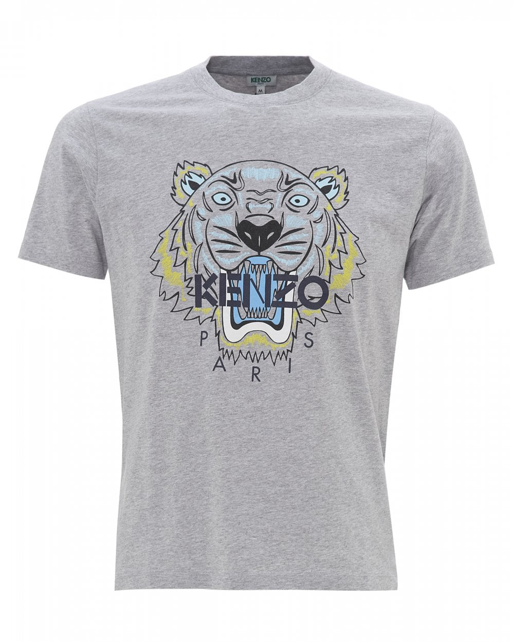 2c632d64 Kenzo Mens Tiger T-Shirt, Icon Pearl Grey Tee