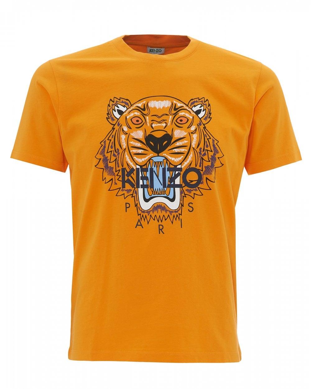 0e1f1837 Kenzo Mens Tiger T-Shirt, Orange Icon Tee