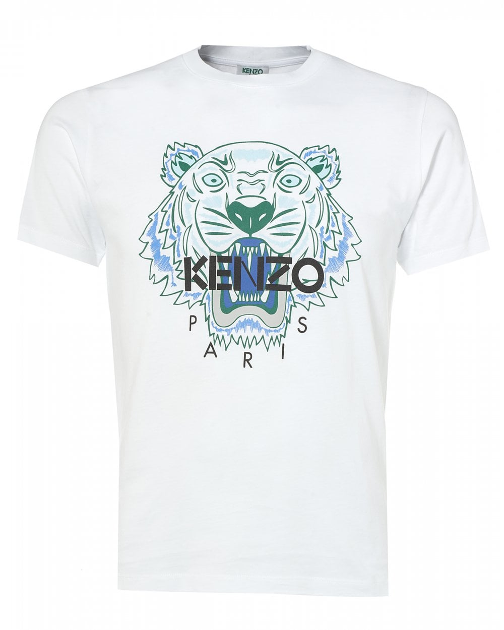 69798eba Kenzo Mens Tiger T-Shirt, White Icon Tee