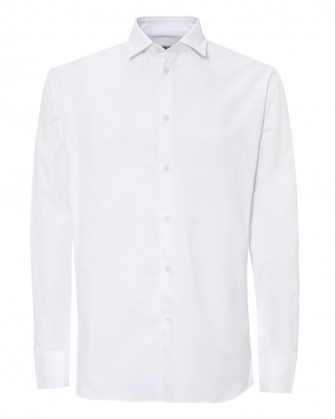 Kenzo Mens White Patch Paris Shirt