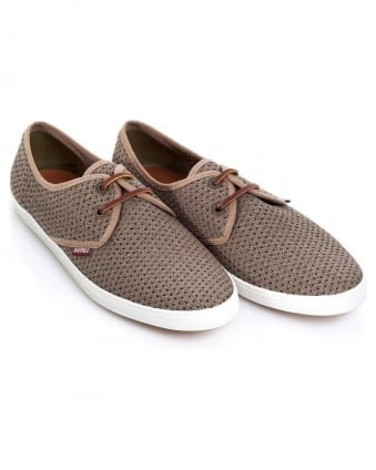 Khaki 'Bilbao Mesh' Lace Up Shoes