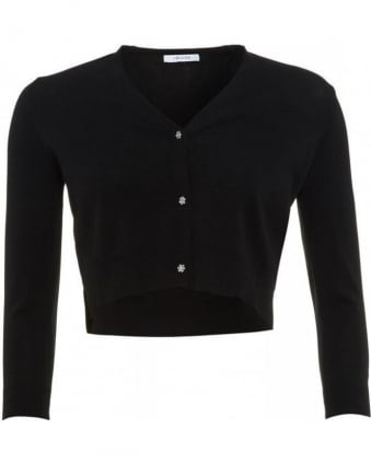 Knitwear, Black Short 'Casa' Cardigan
