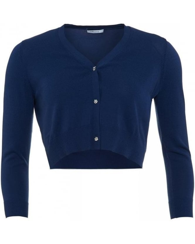I Blues Knitwear, Navy Blue Short 'Casa' Cardigan