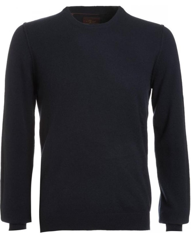 For All Mankind Knitwear, Navy Semi Fitted Cashmere Sweater