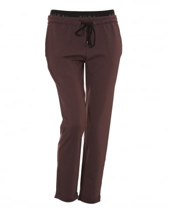 Womens Strand Sweatpants, Branded Waistband Bordeaux Joggers