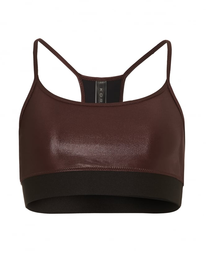 Koral Womens Sweeper Sports Bra, Light Gloss Finish Bordeaux Bra