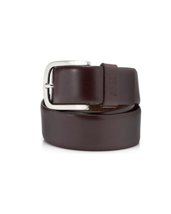 Hugo Boss Black Leather Brown Sun Belt