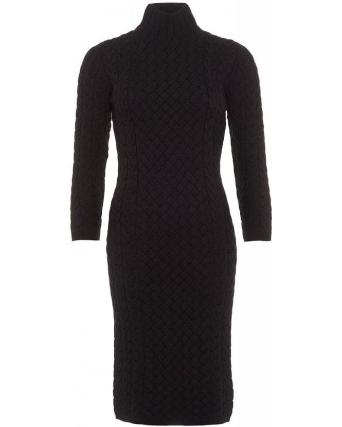 Barbour Lifestyle X Range Rover Black Ratio Knitted Dress