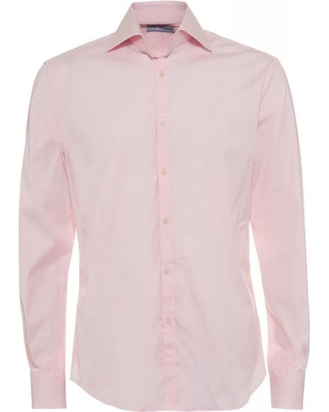Poggianti Shirts Light Pink Slim Fit Shirt