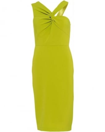 Lime Yellow Fitted 'Aisha' Dress