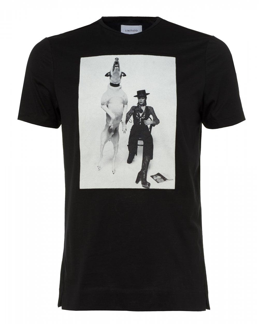 f55b75bf1 Limitato Mens Diamond Dogs T-Shirt, David Bowie Black Tee
